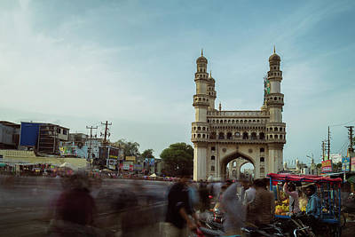 Photograph - An Evening At Charminar, Hyderabad by Prithvi Mandava