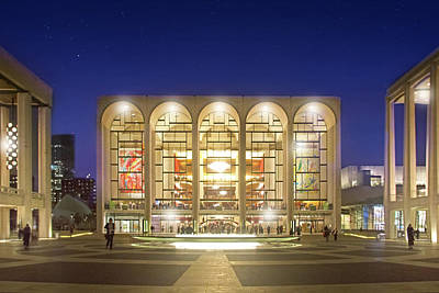 The Met Photograph - An Evening At Lincoln Center by Mark Andrew Thomas