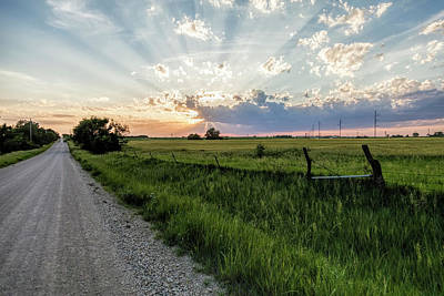 Photograph - An Evening Drive In The Country by Scott Bean
