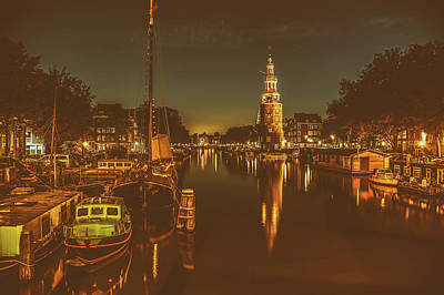 Photograph - An Evening In Amsterdam by Francesco Ronge