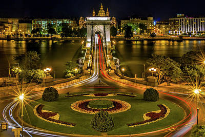 Budapest Hungary Attractions Photograph - An Evening In Budapest by Robert Balog