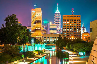 Indiana Photograph - An Evening In Indianapolis by Gregory Ballos
