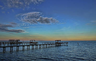 Photograph - An Evening In Kemah Pastel Colors by Judy Vincent