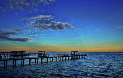 Photograph - An Evening In Kemah Vibrant Colors by Judy Vincent