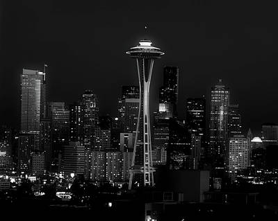 An Evening In Seattle Art Print by L O C