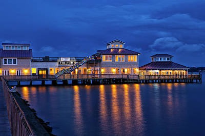 Wall Art - Photograph - an Evening on the Pier at Solomon's by Cliff Middlebrook