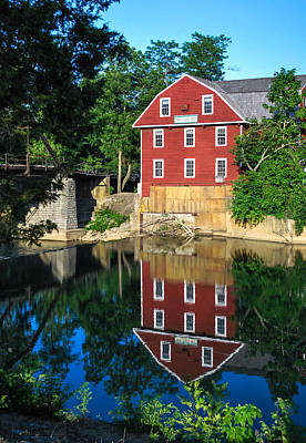 An Evening On The Waters Of War Eagle Mill Art Print