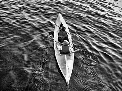 Photograph - An Evening Row Bandw by Lawrence Christopher