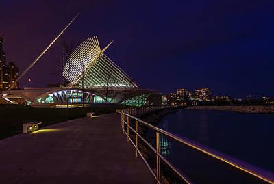 An Evening Stroll At The Calatrava Art Print