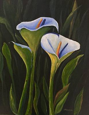 Painting - An Evening With Calla by Jane Ricker