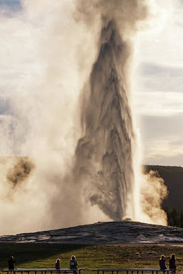 Photograph - An Evening With Old Faithful by Janet Jones