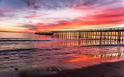Photograph - Seacliff Sunset by Lora Lee Chapman