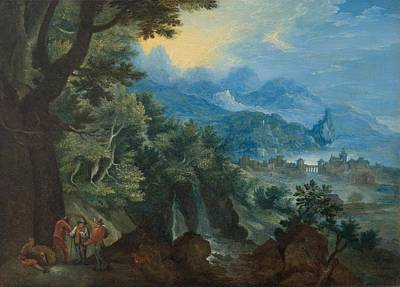 Extensive Landscape Painting - An Extensive Landscape With Travelers by Celestial Images