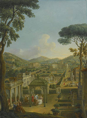 Villa Painting - An Extensive Landscape With Villas And Figures by Celestial Images