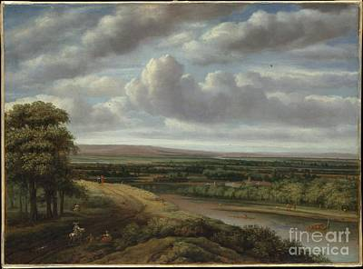 Extensive Landscape Painting - An Extensive Wooded Landscape by Celestial Images