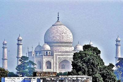 Photograph - An Extraordinary View - The Taj Mahal by Kim Bemis
