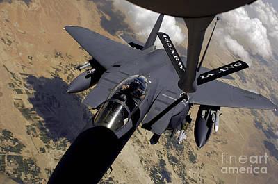 An F-15 Strike Eagle Prepares Art Print by Stocktrek Images