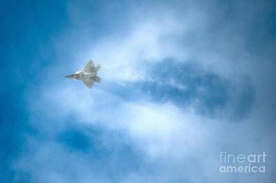 Lightning D Painting - An F-22 Raptor by Celestial Images
