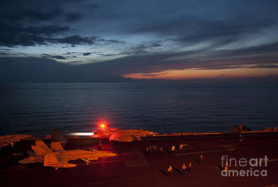 F-18 Painting - An F A-18 Launches by Celestial Images