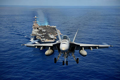 Us Navy Painting - An F A-18e Super Horne by Celestial Images