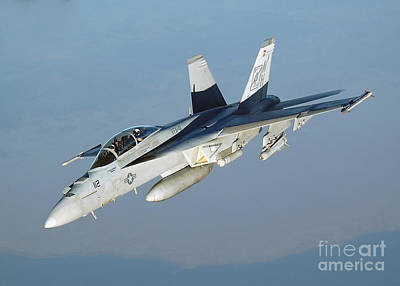 An Fa-18f Super Hornet Conducts Art Print by Stocktrek Images