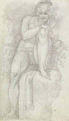 Swiss Drawing - An Hermaphrodite by Henry Fuseli