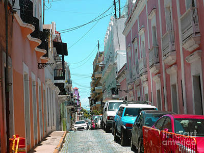 Photograph - An Historic Old San Juan Street Scene by Steven Spak