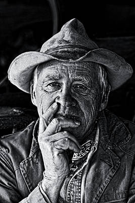 Cowboy Hat Photograph - An Honest Man by Ron  McGinnis