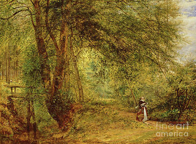 An Hour With The Poet In The Leafy Month Of June Art Print