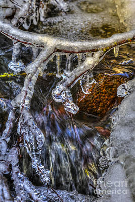Icicle Photograph - An Icy Creek by Veikko Suikkanen