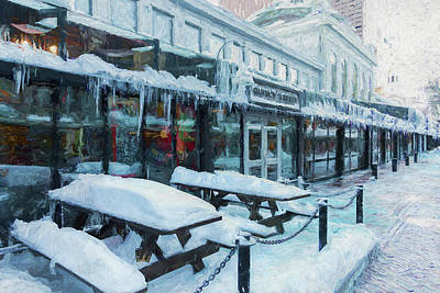 Painting - An Icy Quincy Market by Thomas Logan