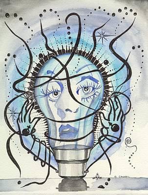 Art Print featuring the digital art An Idea by Darren Cannell