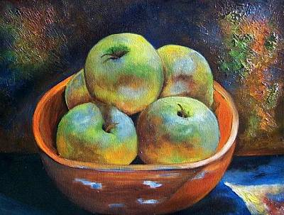 Painting - An Impression Of Apples  by Susan Dehlinger