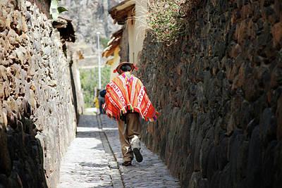 Photograph - An Inca Of Ollantaytambo by Harvey Barrison