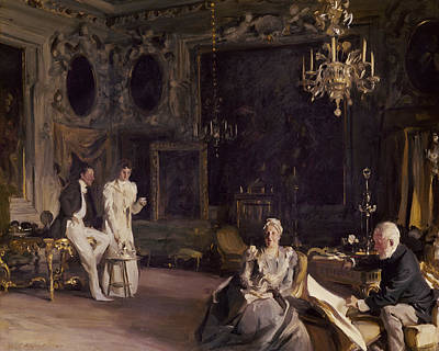 Ballroom Painting - An Interior In Venice by John Singer Sargent