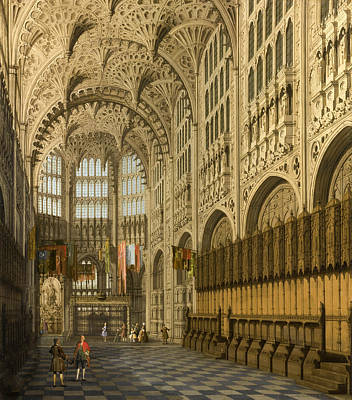 Westminster Abbey Painting - An Interior View Of The Henry Vii Chapel Westminster Abbey by Canaletto