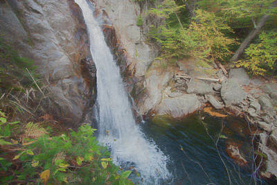 Photograph - An Intimate View Of A Small Waterfall. Listen To The Peaceful So by Rusty R Smith