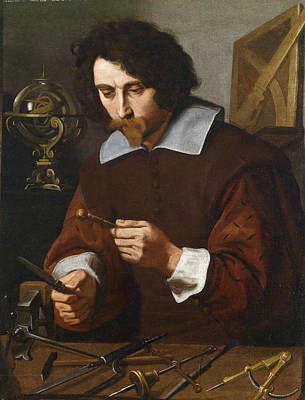 Painting - An Inventor Of Mathematical Instruments by Pietro Paolini