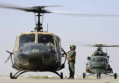 Foreign Military Photograph - An Iraqi Uh-1h Iroquois Helicopter by Stocktrek Images