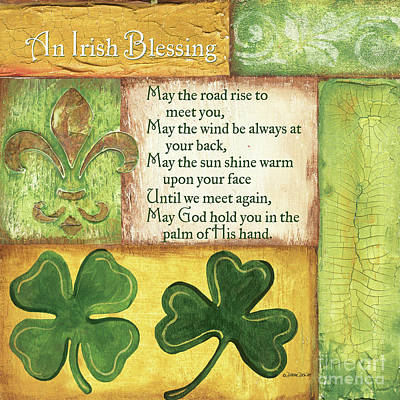 Fleur De Lis Painting - An Irish Blessing by Debbie DeWitt