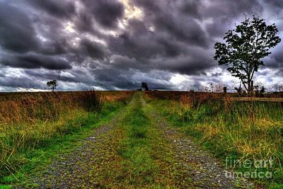 Part Mixed Media - An Irish Road by Kim Shatwell-Irishphotographer