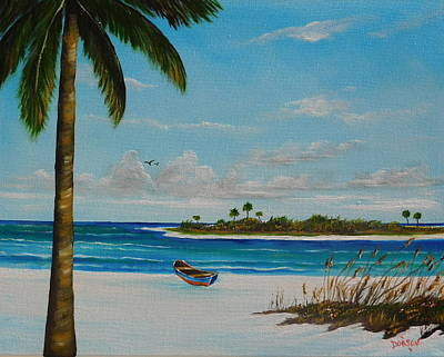 Painting - An Island In Paradise by Lloyd Dobson