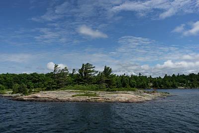 Photograph - An Island Of Pink Granite - Georgian Bay Canadian Landscapes by Georgia Mizuleva