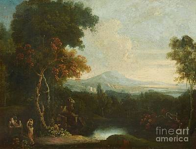 Italian Landscapes Painting - An Italian Landscape by MotionAge Designs