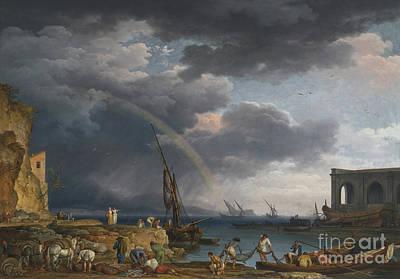 Arc-en-ciel Painting - An Italianate Coasta by MotionAge Designs
