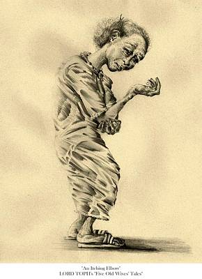 Drawing - An Itching Elbow by Lord Toph
