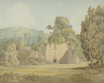 Painting - An Ivy Covered Ruin by Francis Towne