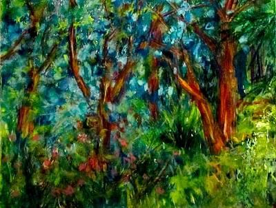 Mixed Media - An La Garden by Barbara O'Toole