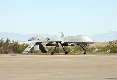 An Mq-1 Predator Taxis To The Runway Print by HIGH-G Productions