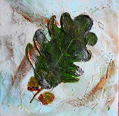 Painting - An Oak Leaf by Betty-Anne McDonald